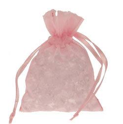 10 Baby Pink Chiffon Bags