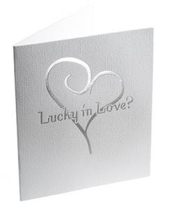 Silver Heart Lottery Ticket Holder