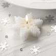 Small Shimmering Snowflake Candle 3 in a pack