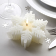 Large Shimmering Snowflake Candle