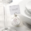Shimmering Snowflake Bauble Place Card Holder