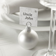 Matt Silver Bauble Place Card Holders
