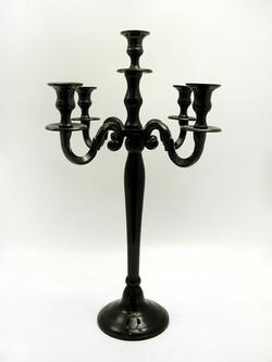 60cm Black Venus Candelabra