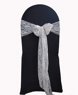 White Lace Sash